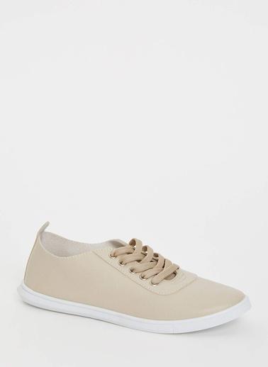 DeFacto Bağcıklı Sneaker Bej